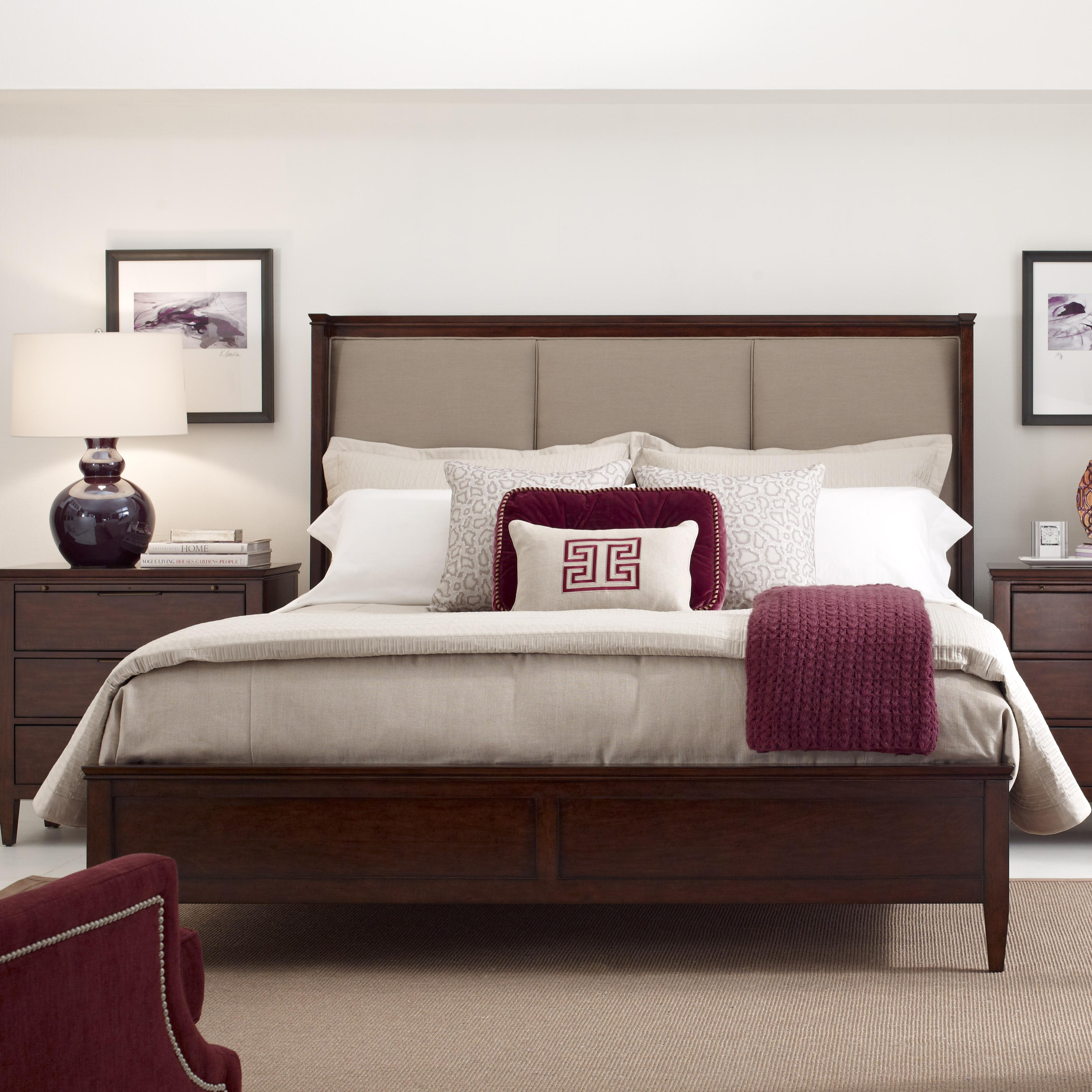 Spectrum King Upholstered Bed In Mushroom Fabric By Kincaid - Spectrum furniture