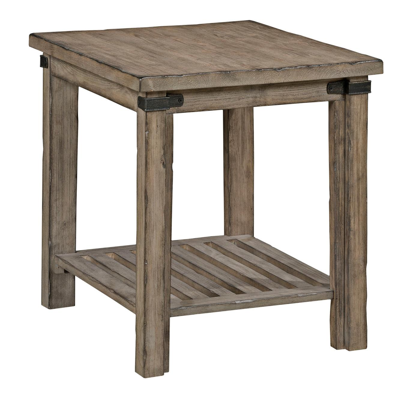 Marvelous Rustic Weathered Gray End Table