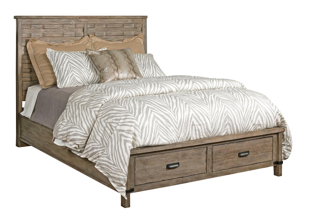 Queen Rustic Panel Bed With Storage Footboard By Kincaid Furniture Wolf And Gardiner Wolf
