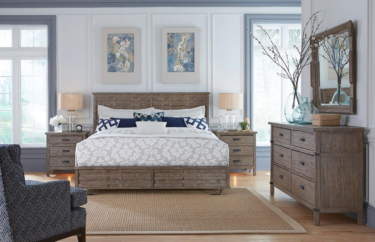 Rustic Weathered Gray Drawer Dresser By Kincaid Furniture Wolf - Kincaid tuscano bedroom furniture