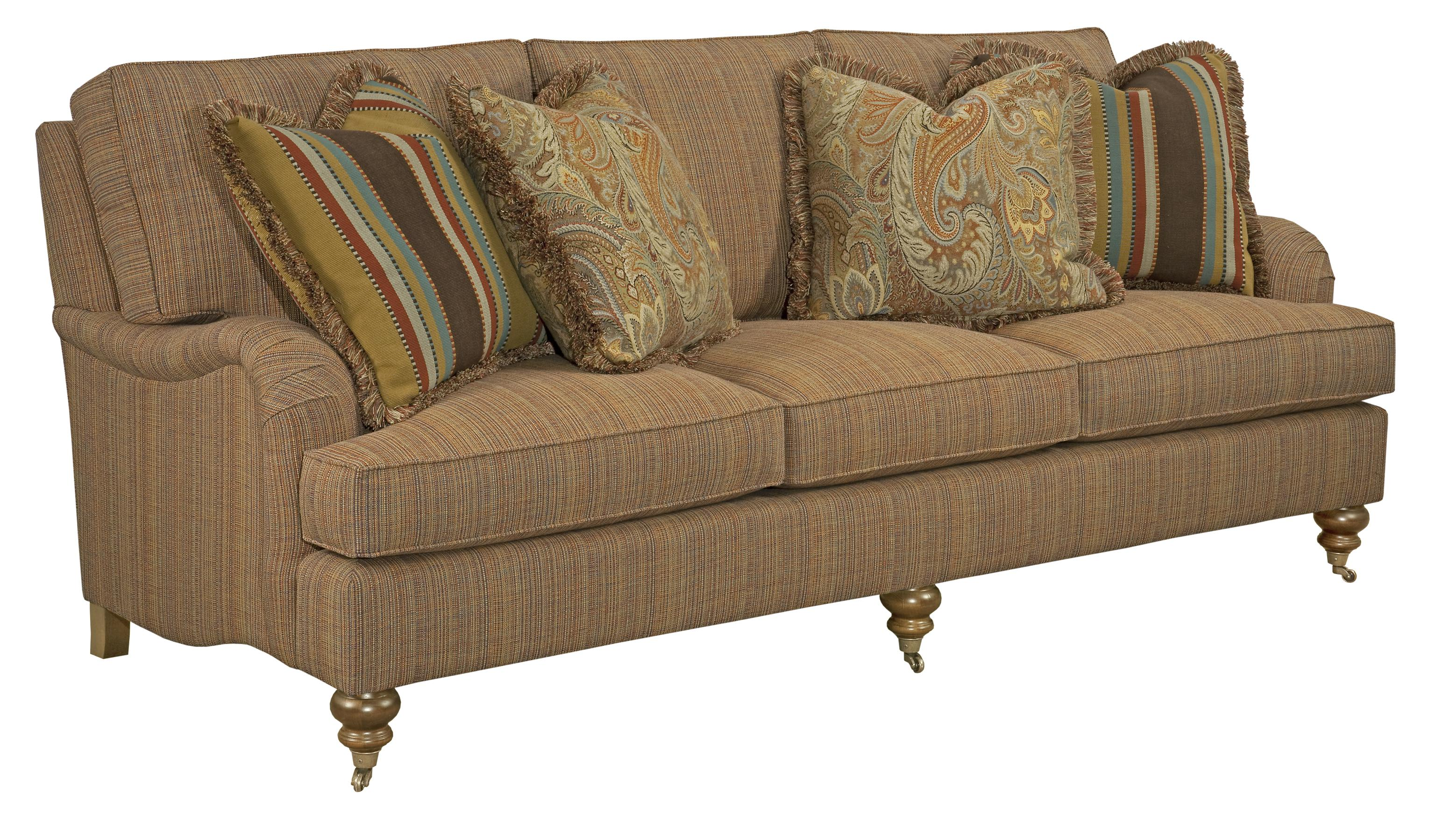 Merveilleux Traditional Sofa With English Arms And Turned Legs