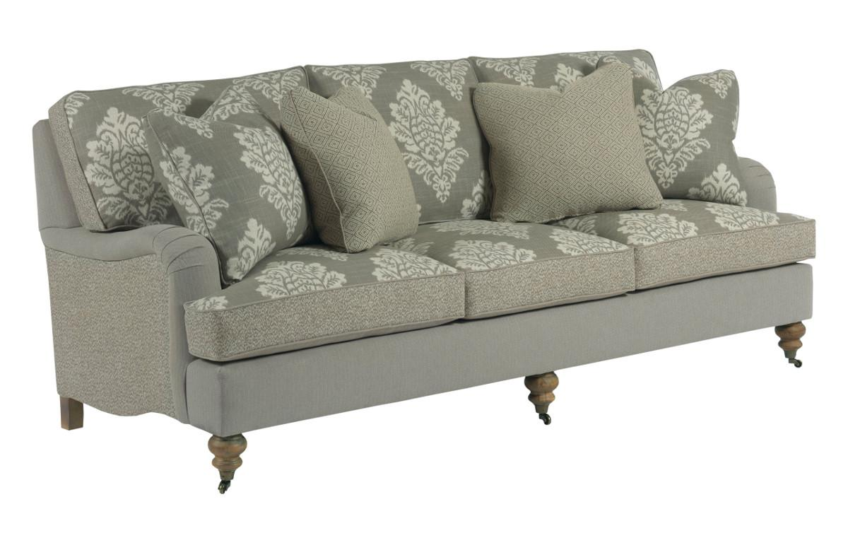 Traditional Sofa With English Arms And Turned Legs