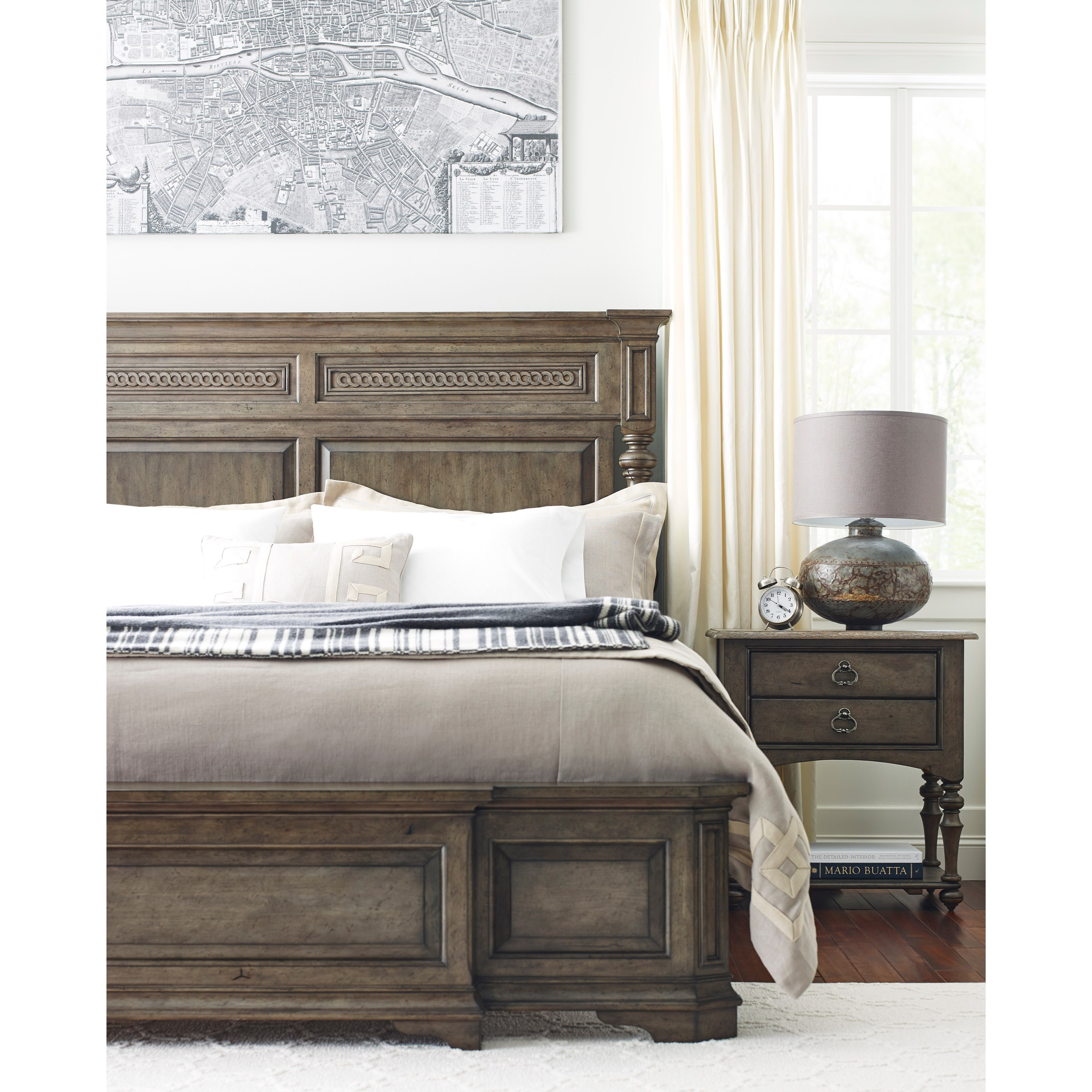 Logan King Sized Panel Bed with Turned Post Headboard by Kincaid