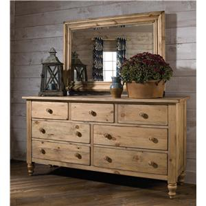 Kincaid Furniture Homecoming Triple Dresser with Mirror