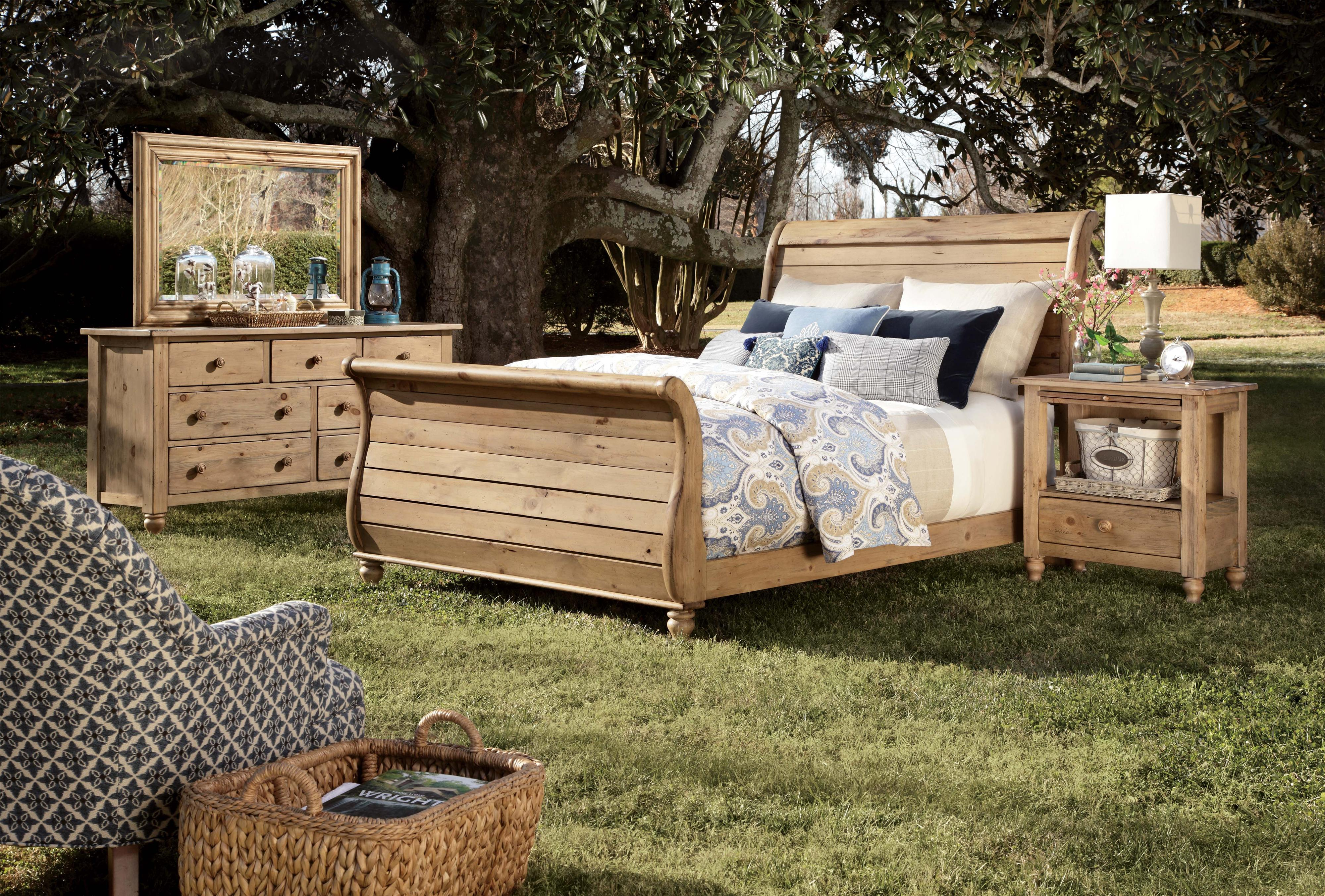 Queen Sleigh Bed with Headboard and Footboard by Kincaid Furniture ...