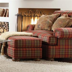 Kincaid Furniture Lubbock Chair and 1/2 and Ottoman Set