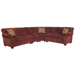 Kincaid Furniture Lynchburg 4 Piece Sectional Sofa