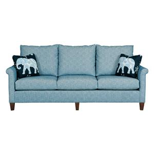 Charmant Customizable Grand Sofa With Sock Arms And Wood Legs