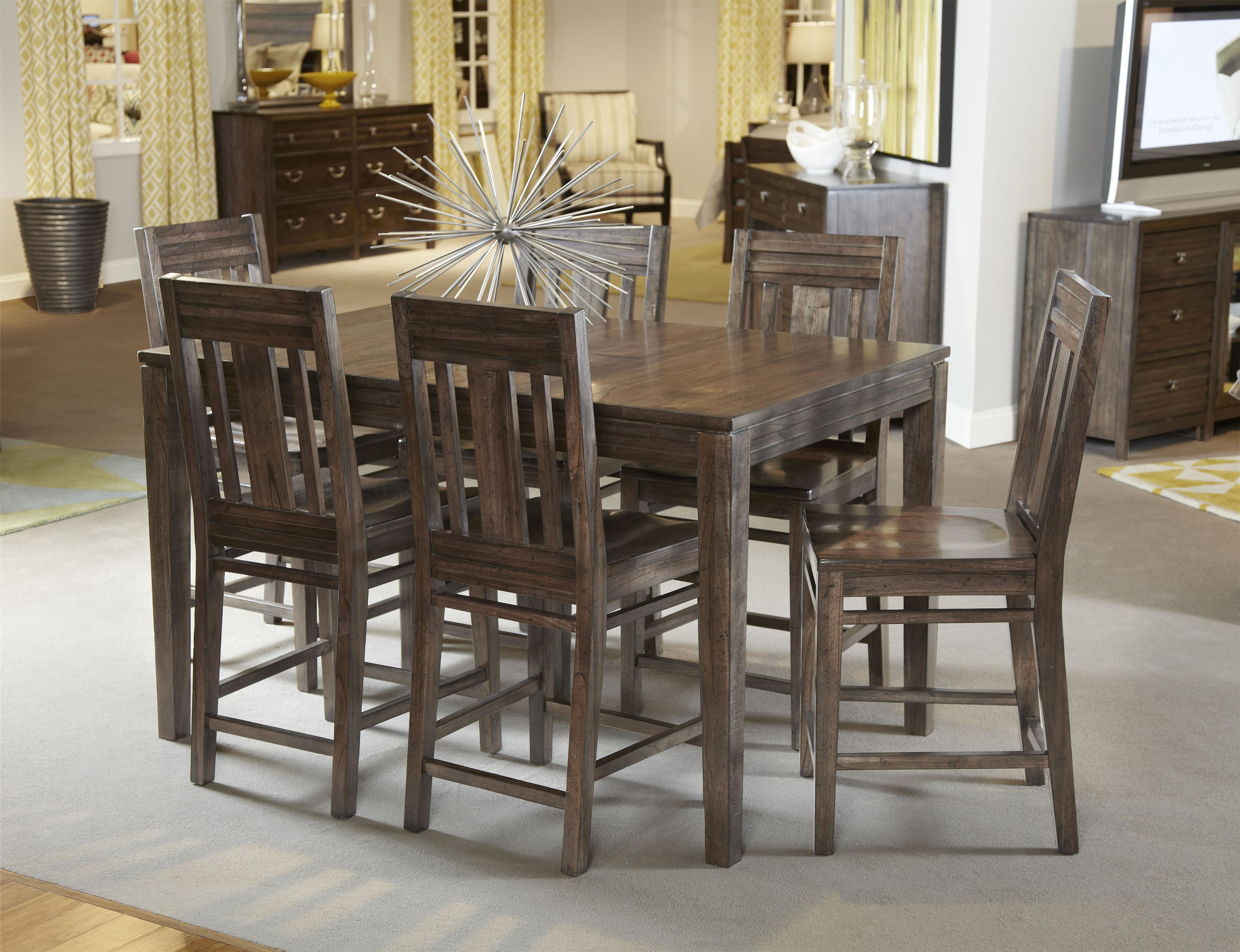 7 Pc Casual Counter Height Dining Set