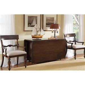 Kincaid Furniture Moonlight Bay Sunburst Gate Leg Table and Arm Chair Set