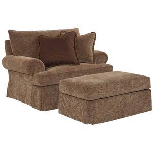 Kincaid Furniture Oakmont Chair and Ottoman