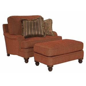 Kincaid Furniture Pinehurst Oversized Chair and Ottoman Group