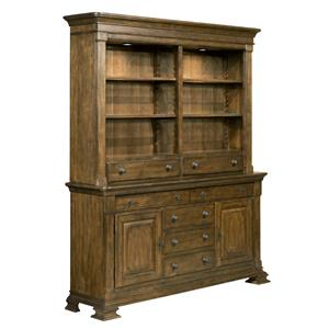 Kincaid Furniture Portolone Portolone Credenza and China Hutch