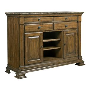 Kincaid Furniture Portolone Portolone Sideboard w/ Marble Top