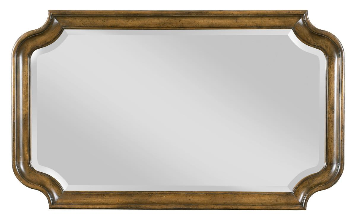 Traditional Bureau Mirror with Scalloped Frame by Kincaid Furniture ...
