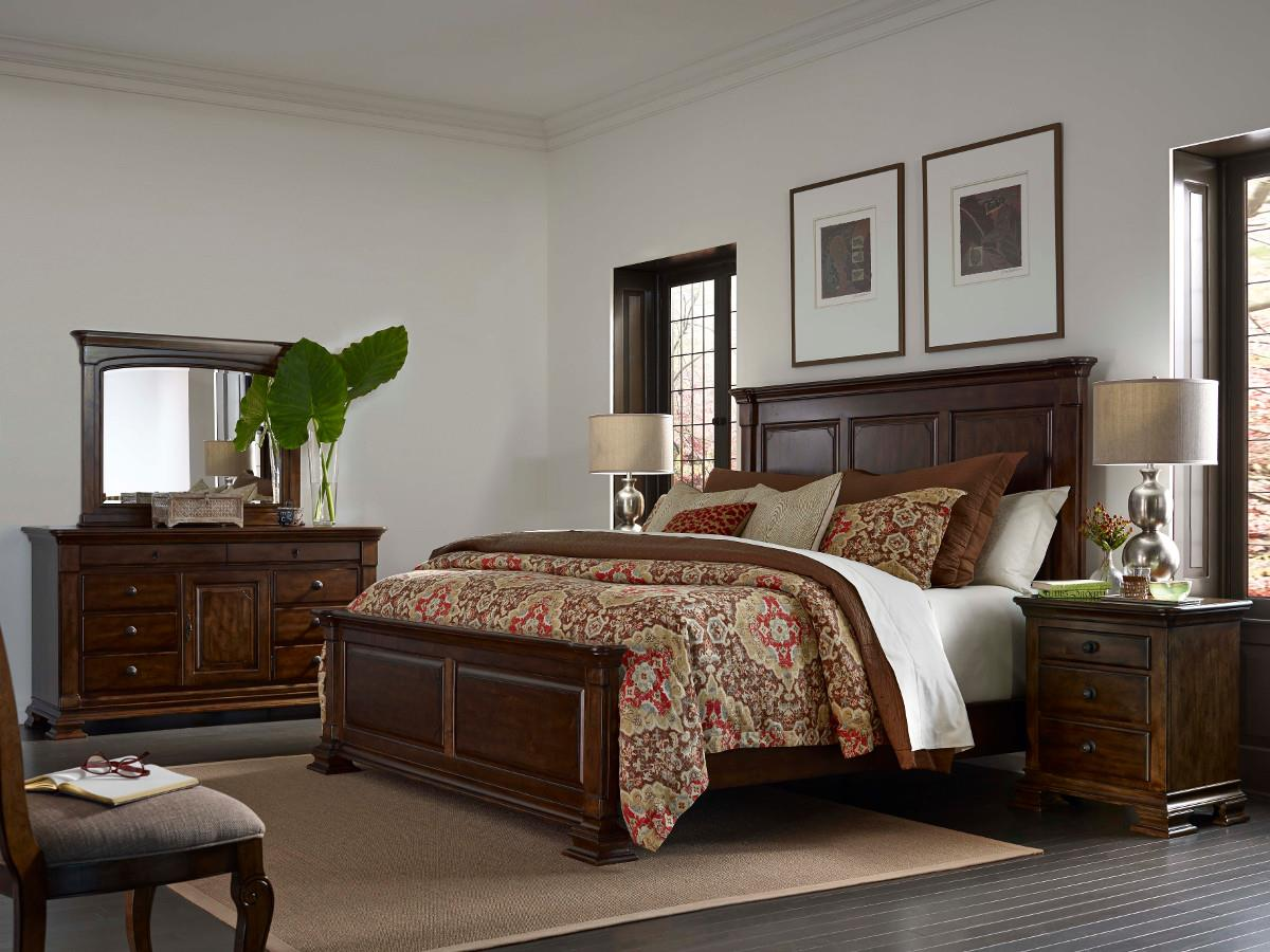 Queen Monteri Panel Bed - Queen Monteri Solid Wood Panel Bed By Kincaid Furniture Wolf And