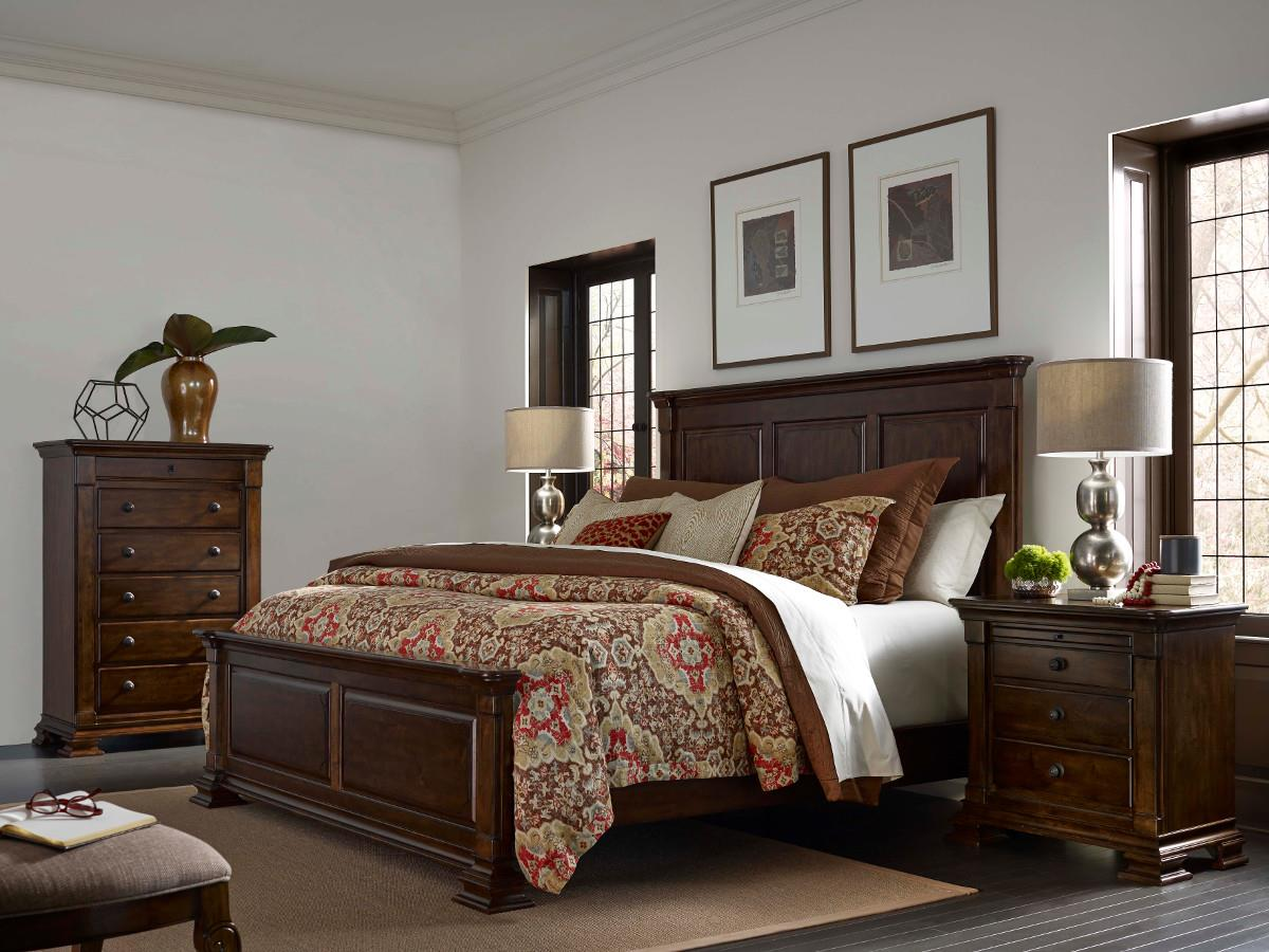 King Monteri Solid Wood Panel Bed by Kincaid Furniture | Wolf and ...