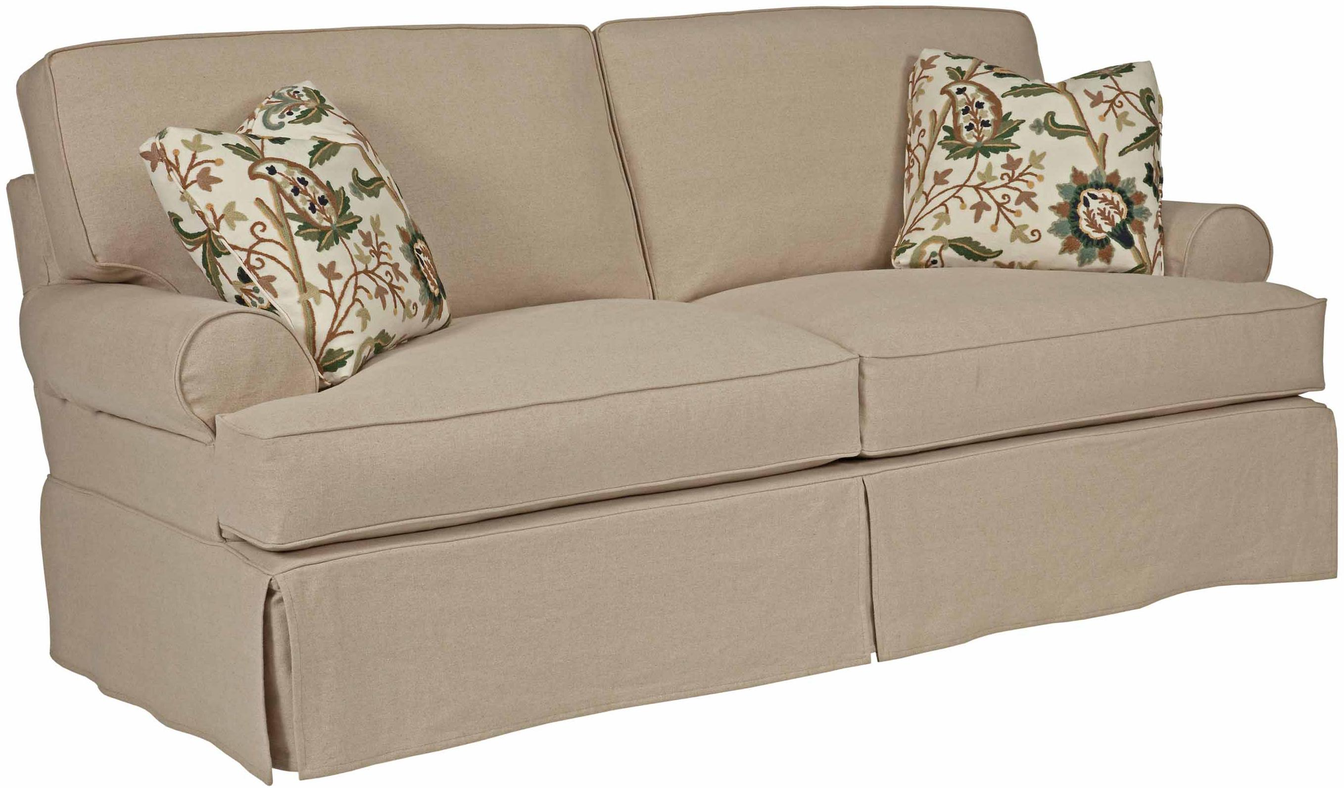 Samantha Two Seat Sofa With Slipcover Tailoring Loose Pillow Back By Kincaid Furniture Wolf