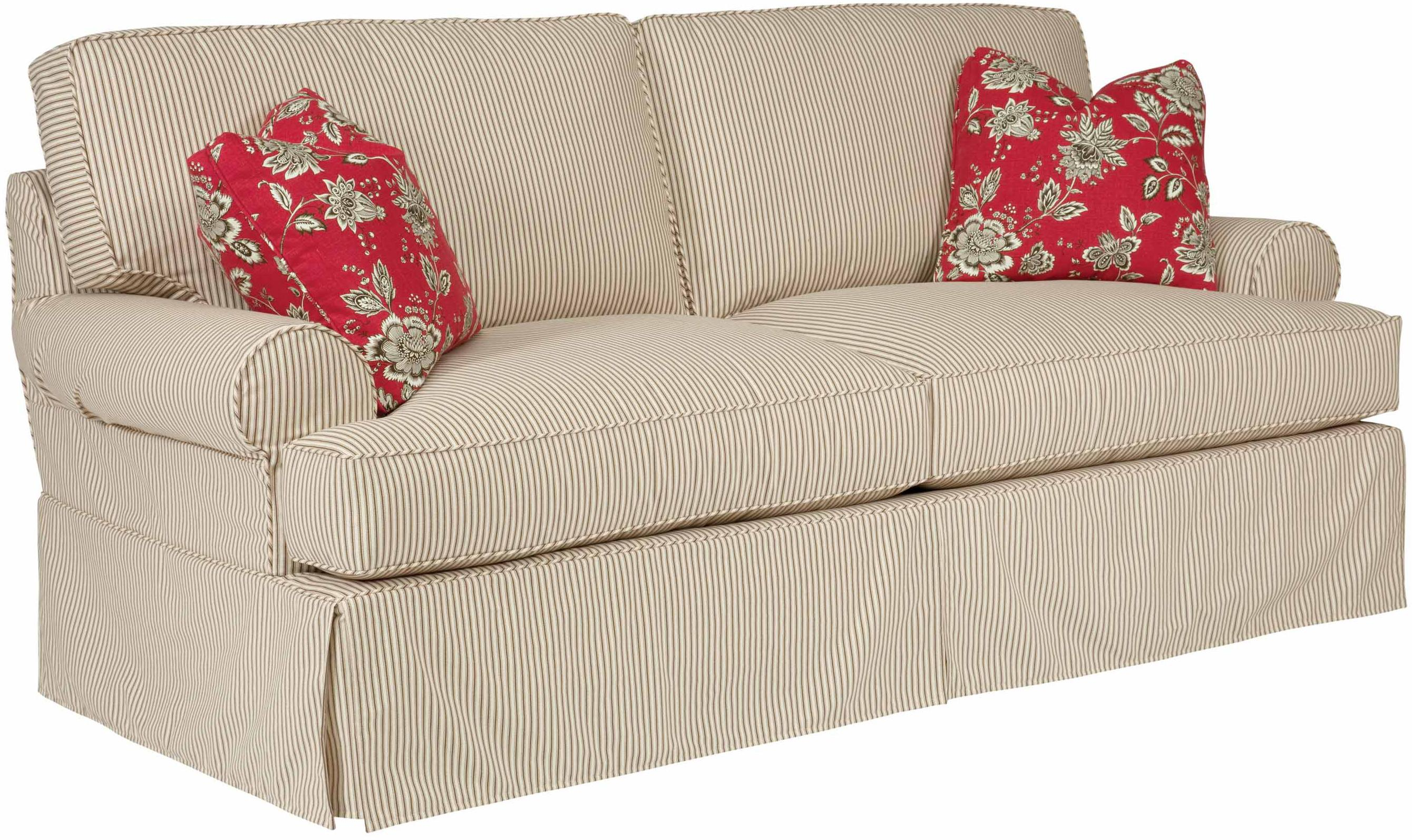 Samantha Two Seat Sofa with Slipcover Tailoring & Loose Pillow