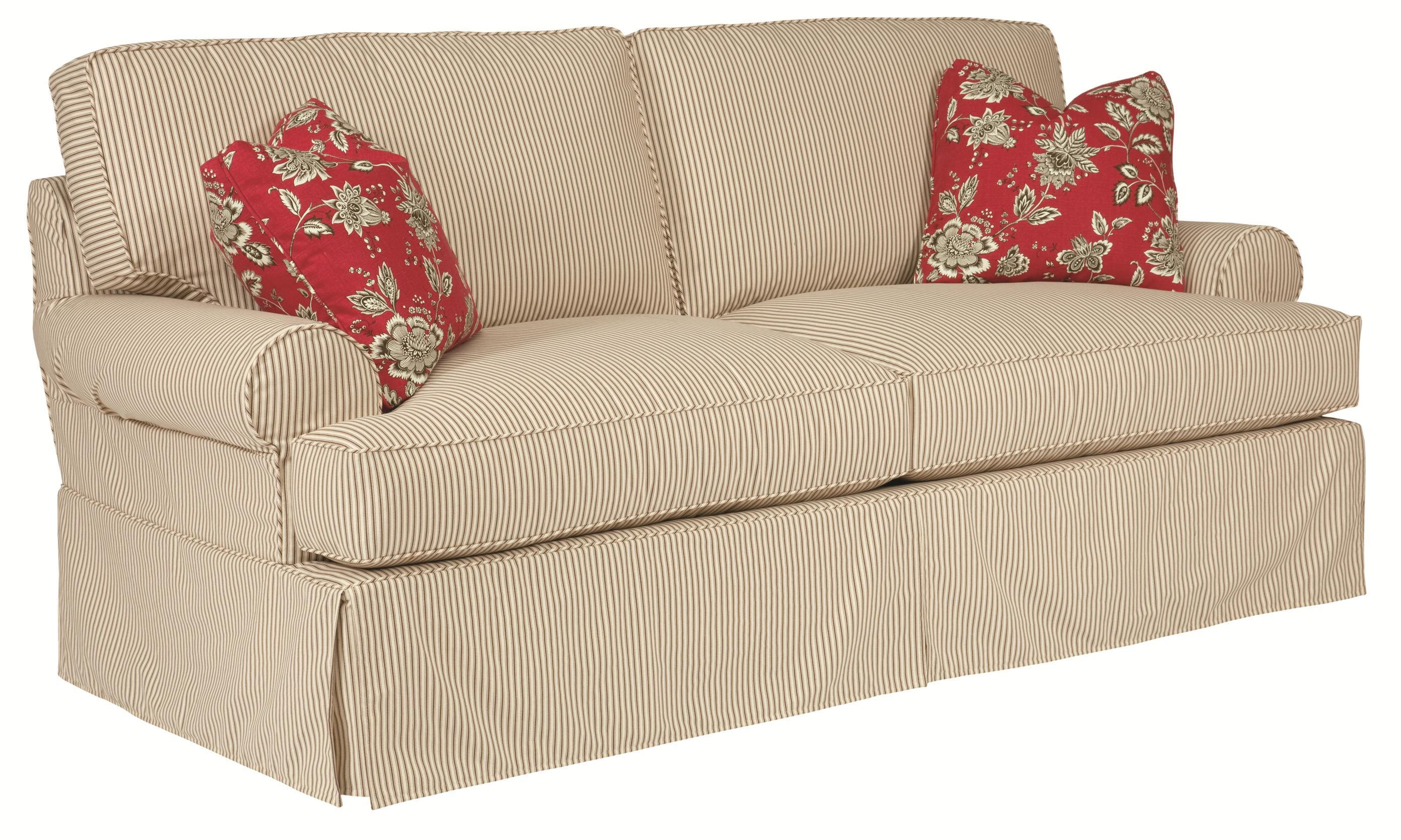 Samantha Three Seat Sofa with Slipcover Tailoring & Loose Pillow
