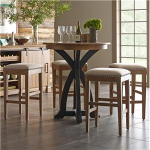 Kincaid Furniture Stone Ridge 5 Pc Bistro Table and Bar Stool Set