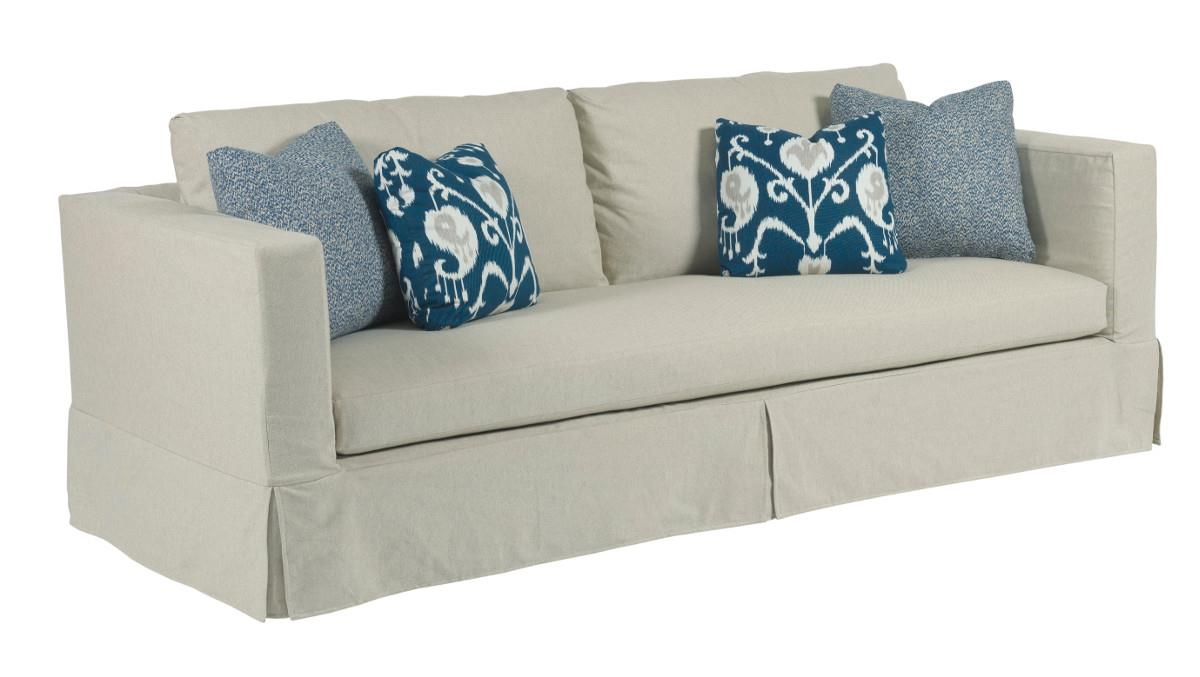 modern slipcover sofa with kick pleat skirt. modern slipcover sofa with kick pleat skirt by kincaid furniture