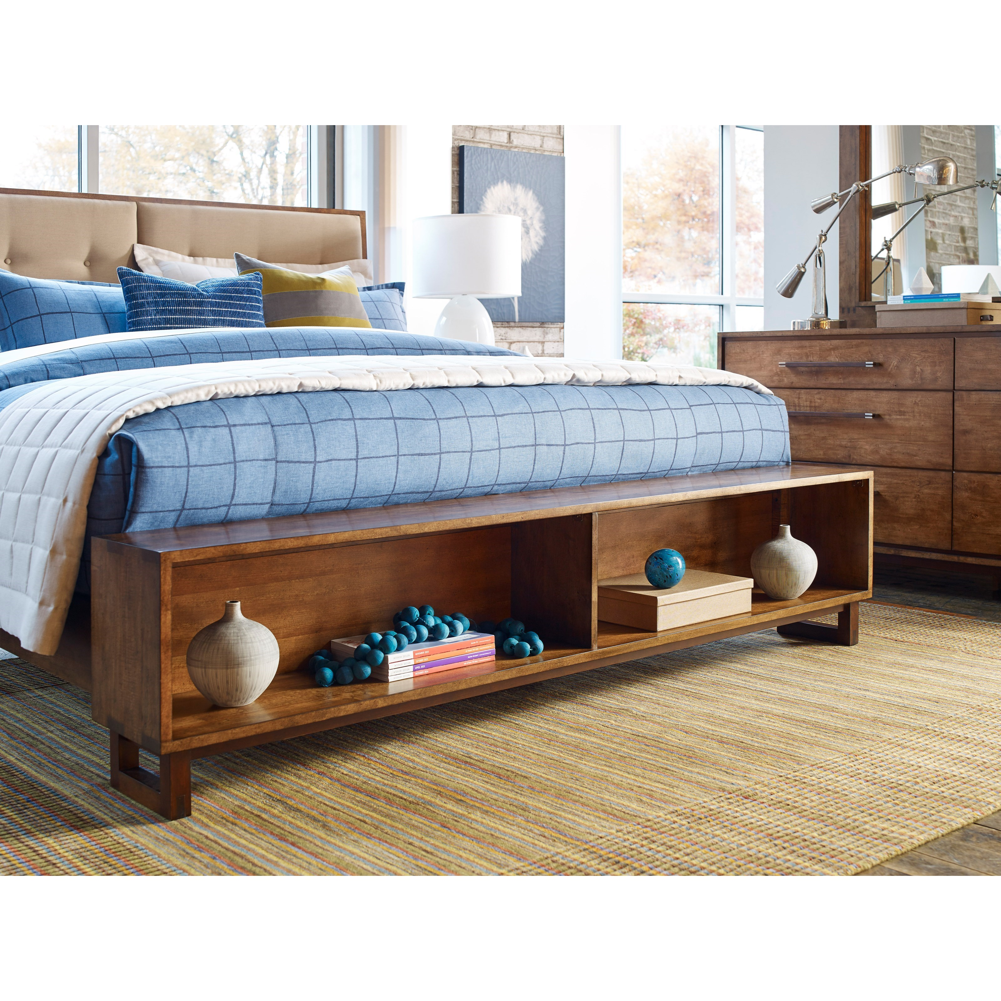100 bed with headboard and drawers rosewood queen size long