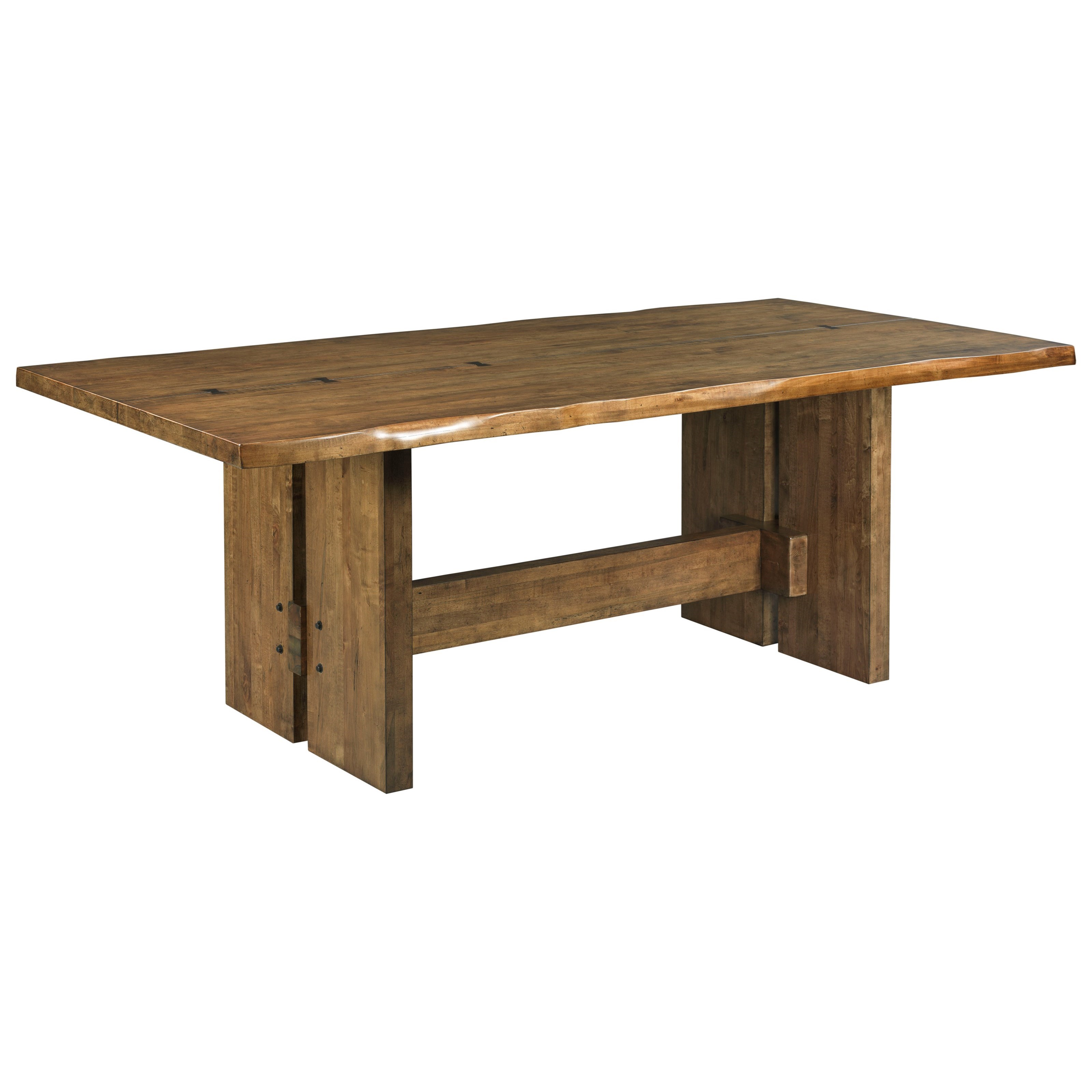 Awesome Cutler Live Edge Trestle Dining Table
