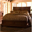 Kincaid Furniture Tuscano California King Low Profile Bed with Sleigh Headboard - Bed Shown May Not Represent Size Indicated