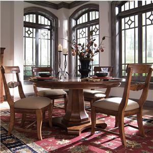 Kincaid Furniture Tuscano 5 Pc. Round Pedestal Table & Chair Set