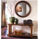 Kincaid Furniture Tuscano Rectangular Sofa Table with Shelf - Shown with Round Mirror
