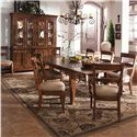 Kincaid Furniture Tuscano 9 Pc. Refectory Leg Table & Chair Set - Item Number: 96054+2x62+6x61