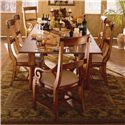 Kincaid Furniture Tuscano Refectory Leg Table - Shown with Arm Chairs and Side Chairs