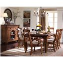 Kincaid Furniture Tuscano Refectory Leg Table - Shown with Sideboard, Round Mirror, Arm Chairs and Side Chairs