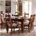 Kincaid Furniture Tuscano Tuscano Side Chair - Shown with Table and Arm Chairs