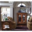 Kincaid Furniture Tuscano Curio Glass Door Display Cabinet - Shown with Lamp Table