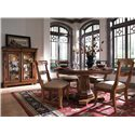 Kincaid Furniture Tuscano Curio Glass Door Display Cabinet - Shown with Round Table and Side Chairs