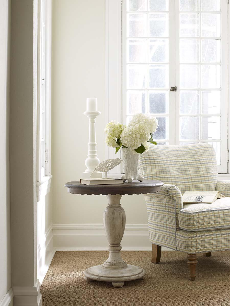 Round Accent Table with Scalloped Edges by Kincaid Furniture | Wolf ...