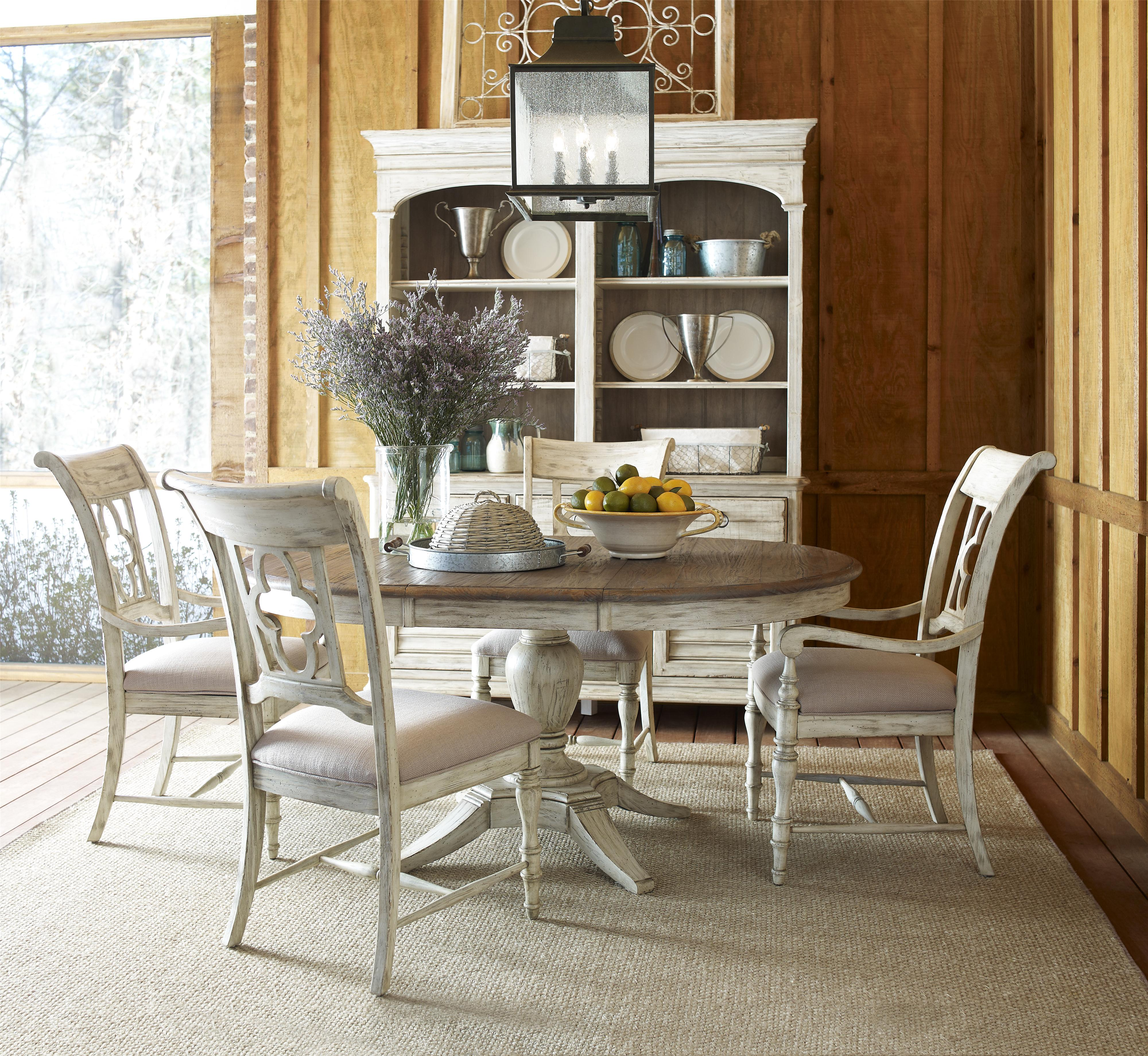 Milford Round Dining Table Package with Pedestal Base and Splayed