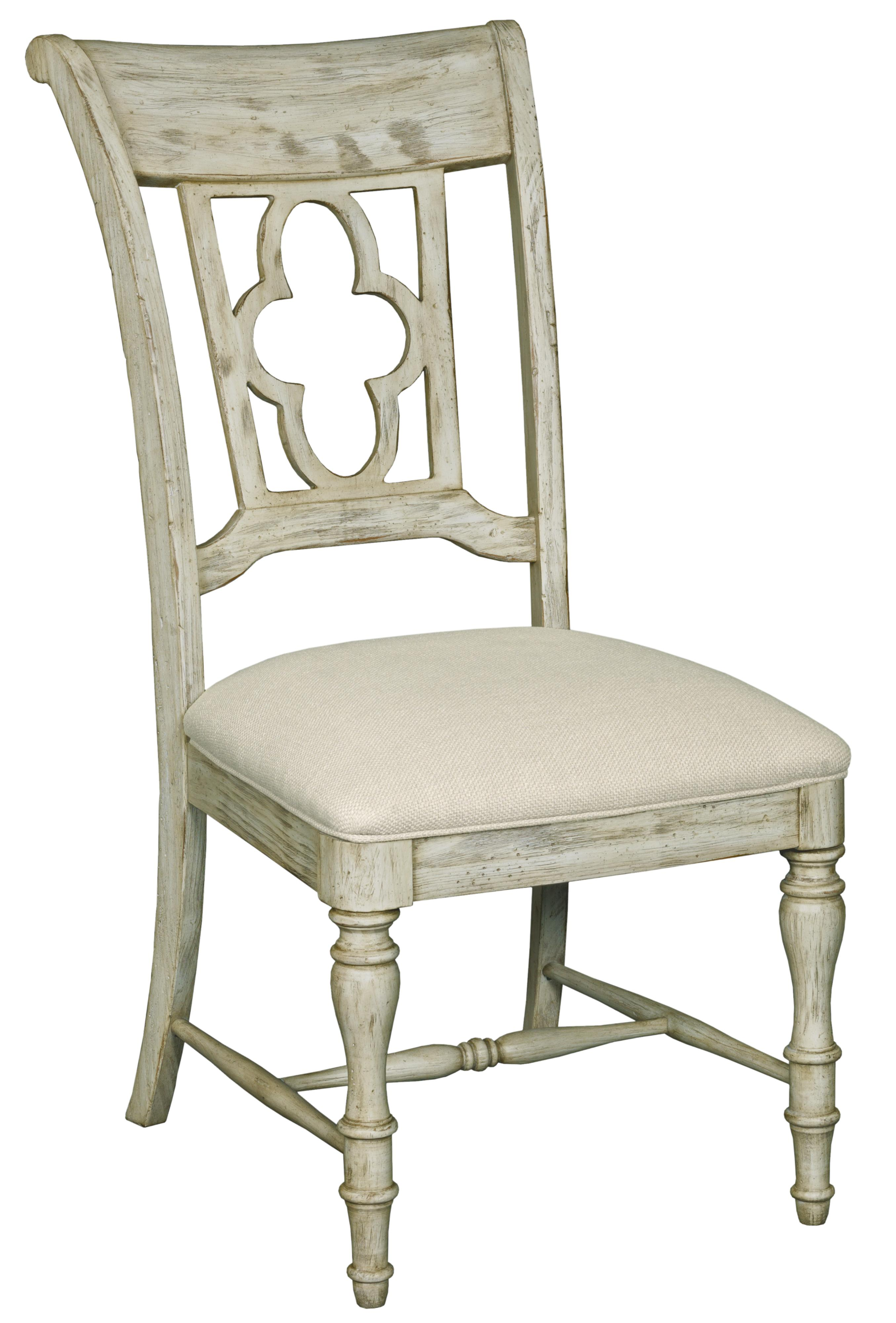 5 Piece Dining Set With Pedestal Table And Quatrefoil Back Chairs By Kincaid Furniture Wolf