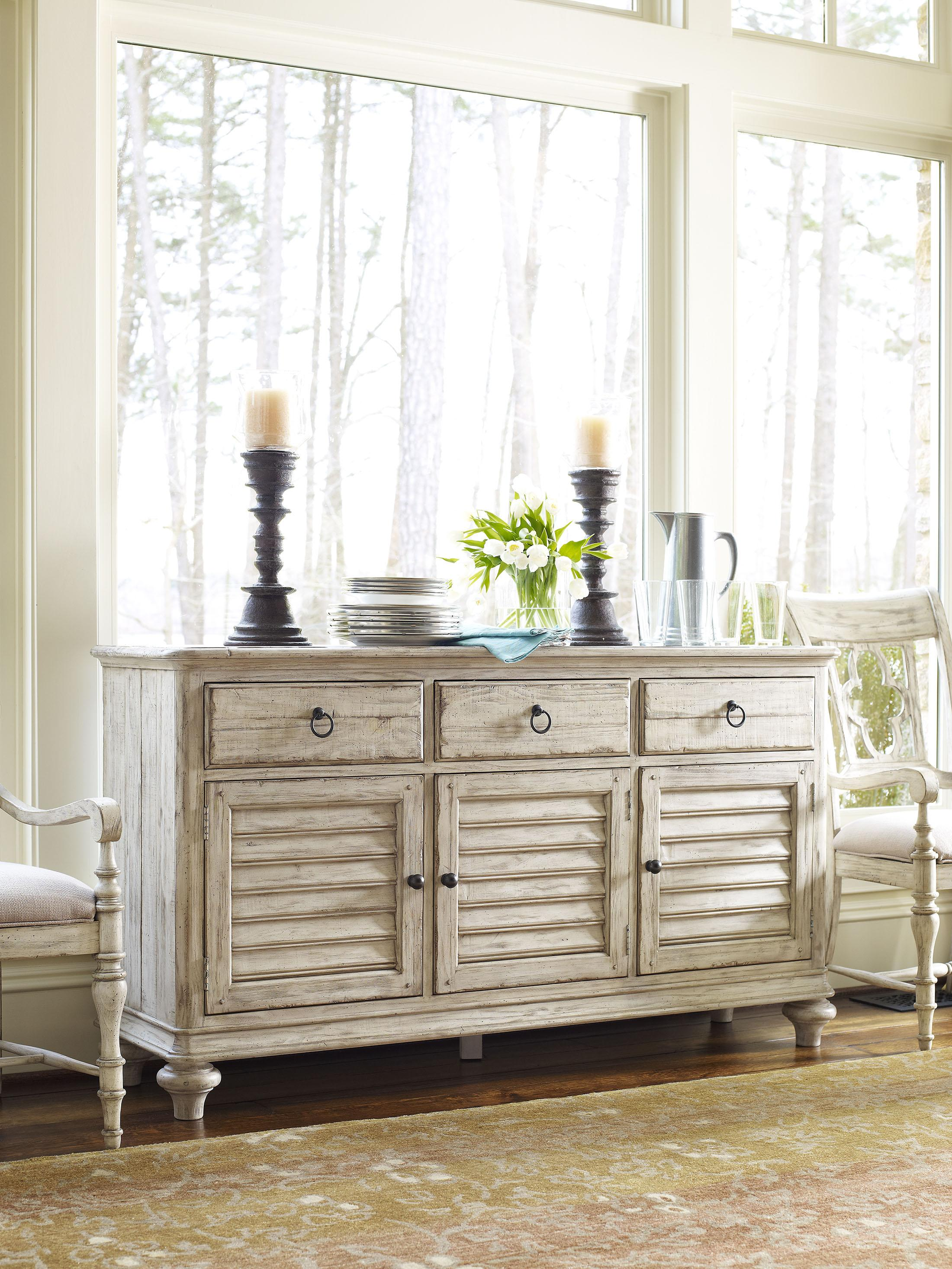Hastings Buffet With 3 Drawers And 3 Shutter Style Doors. By Kincaid  Furniture