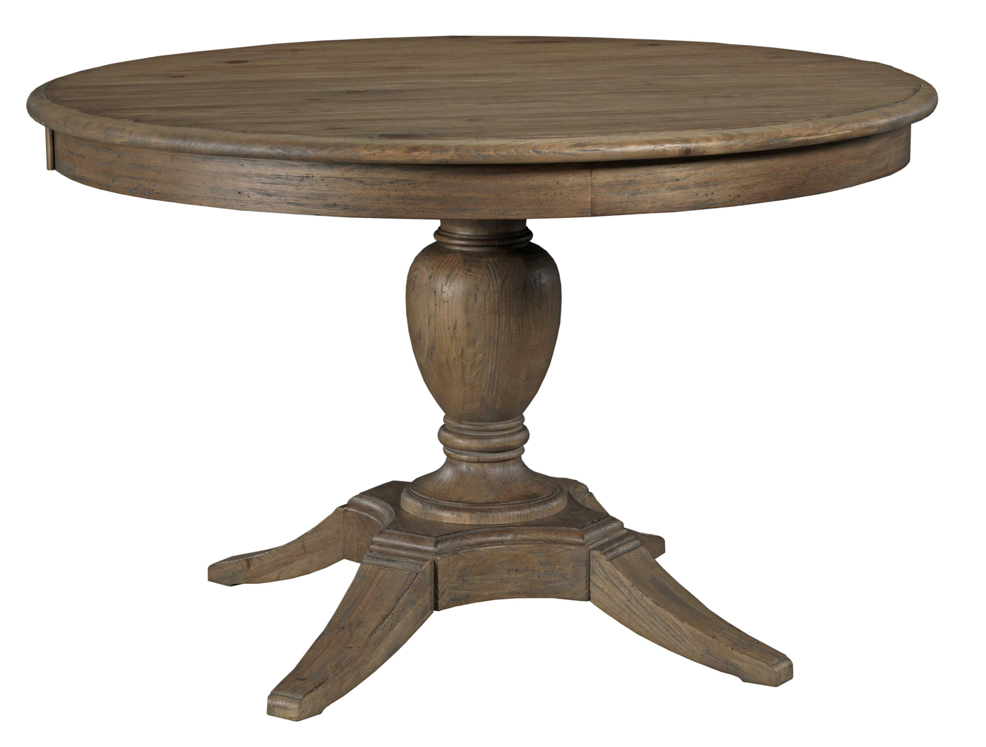 Milford Round Dining Table Package With Pedestal Base And Splayed Legs