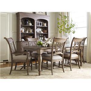 Kincaid Furniture Weatherford 7 Piece Dining Set