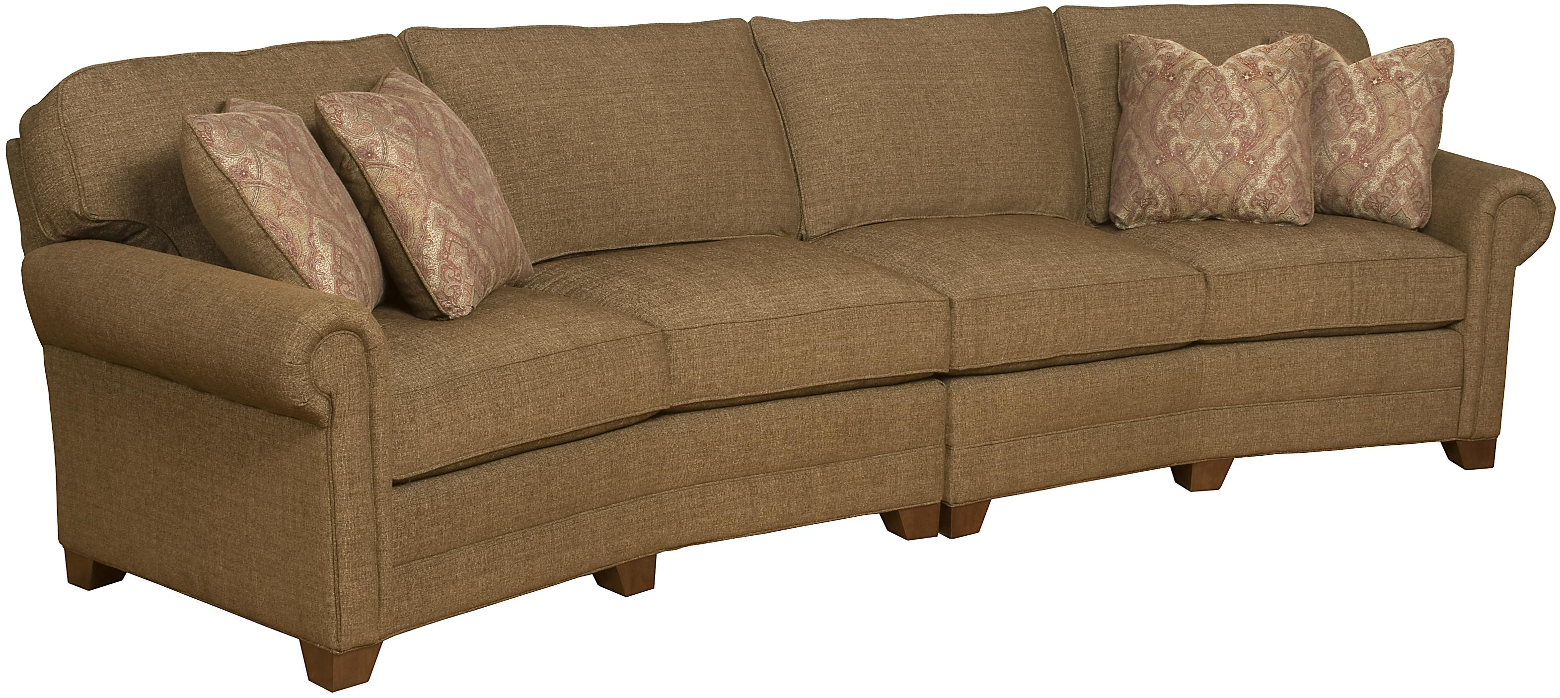 2 Piece Conversation Sofa with Exposed Wood Legs by King Hickory
