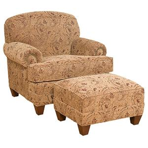 Awesome Traditional Companion Chair With Ottoman