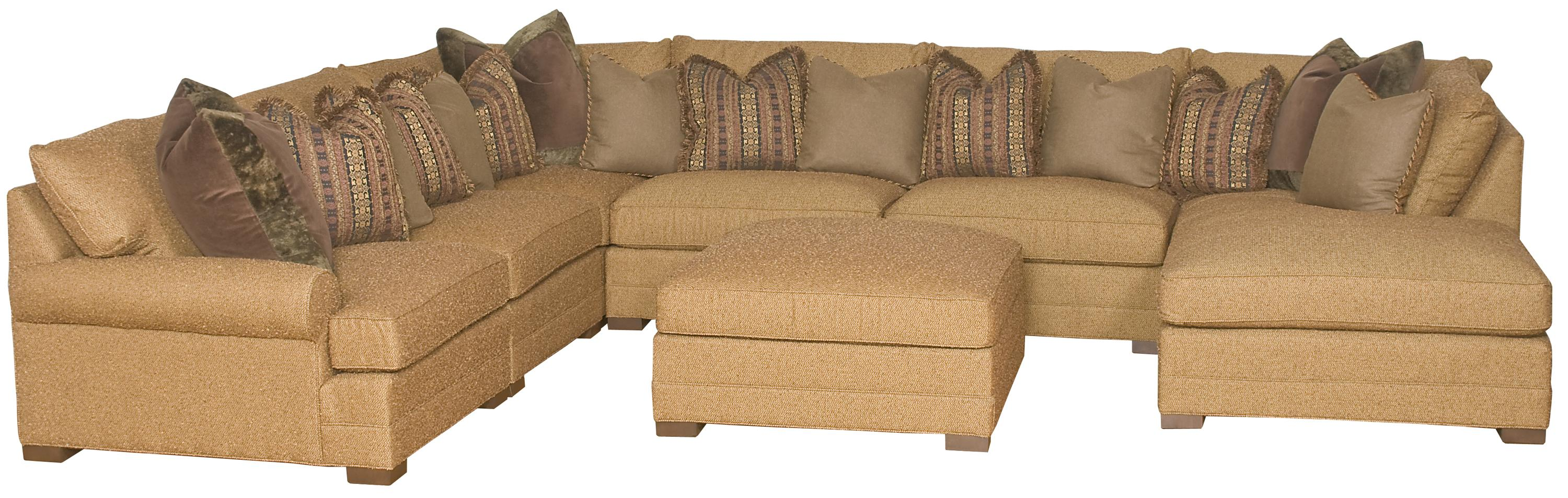 Transitional U Shaped Sectional Sofa by King Hickory