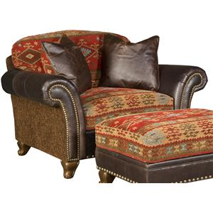 Exceptionnel Traditional Chair And A Half With Nailhead Trim
