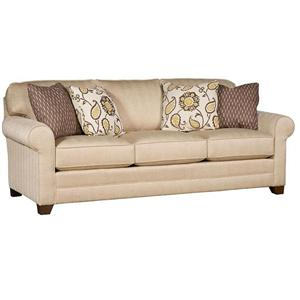 Superb Transitional Sofa With Tapered Block Feet