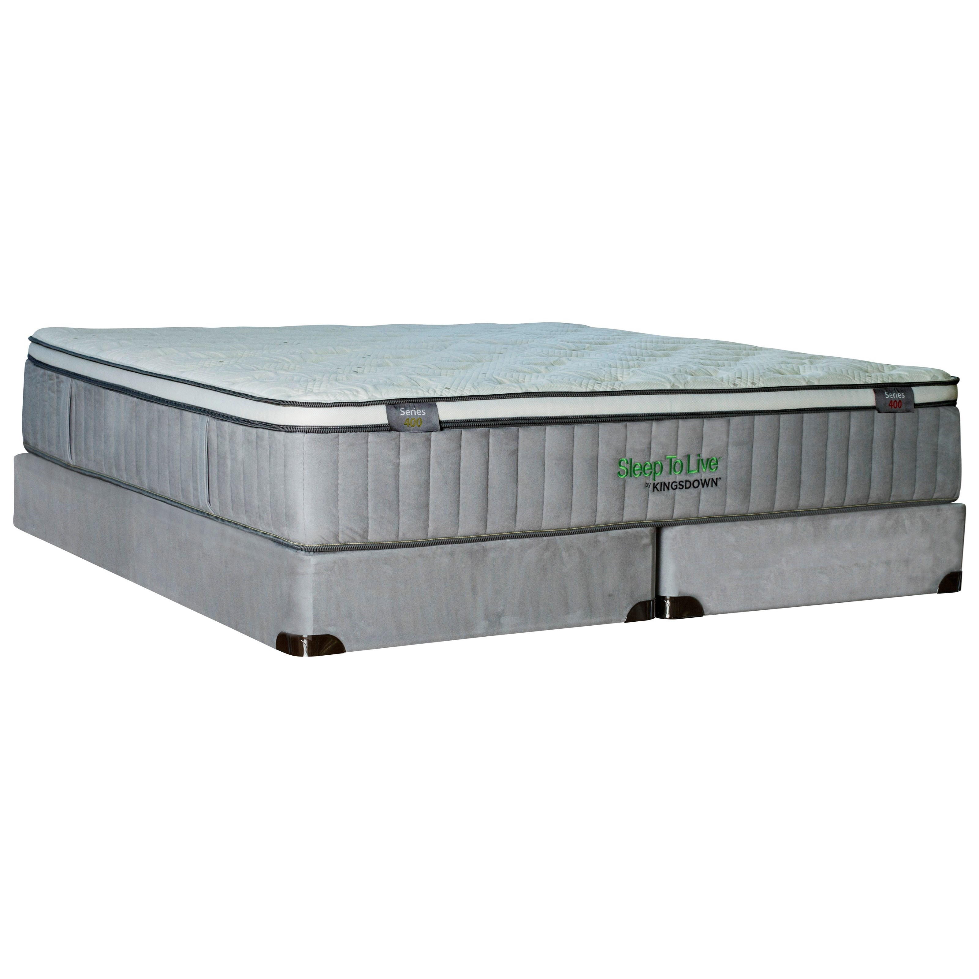 "Queen 14 1/2"" Extra Firm Euro Top Luxury Mattress and Wood Foundation"