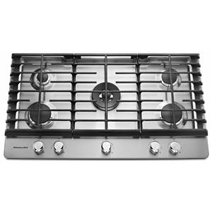 KitchenAid Gas Cooktops - 2014 36'' 5-Burner Gas Cooktop